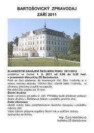 Bartošovický zpravodaj - září 2011 - Folklorní sdružení ČR