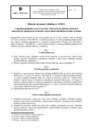 Obecně závazná vyhláška č. 3/2011