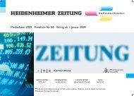 Mediadaten 2009 · Preisliste Nr. 50 · Gültig ab 1  ... - Die-Zeitungen.de