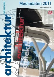 Mediadaten 2011 - Architektur Fachmagazin