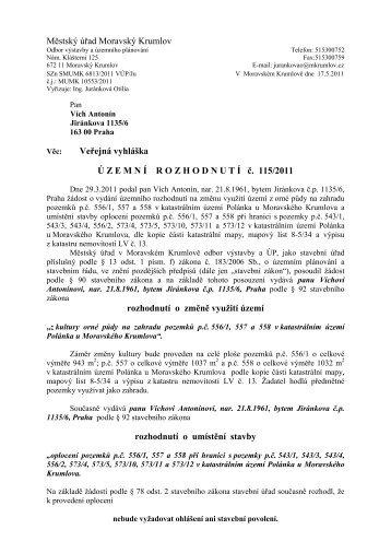 Veřejná vyhláška - Moravský Krumlov