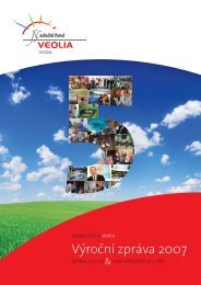 Výroční zpráva 2007 - Nadační fond Veolia