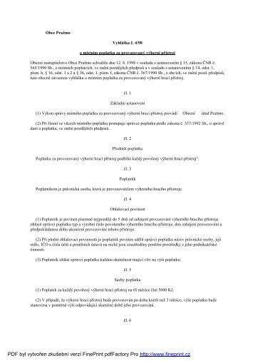 PDF byl vytvořen zkušebníverzíFinePrint pdfFactory Pro http://www ...