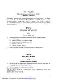 OBEC PRAŽMO Obecně závazná vyhláška č. 1/2010, o místních ...
