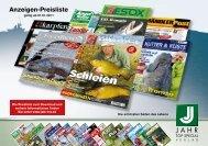 Anzeigenpreise im redaktionellen Teil - Pressrelations GmbH