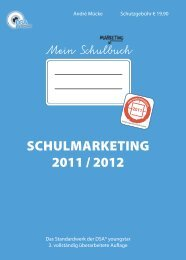 Schulmarketing 2011 / 2012 - Pressrelations GmbH