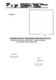 Građevina - Tekstualni dio i Troškovnik - Plovput