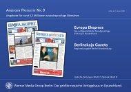 Evropa Ekspress Berlinskaja Gazeta - Pressrelations GmbH