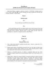 Pravidla pro přidělování obecních bytů do nájmu občanům Část I ...