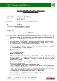 Výzva k podání nabídky č. 3/2012-2013 - Technické služby Tábor sro