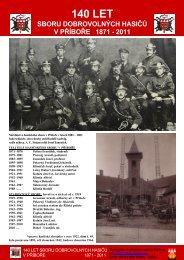 140 let SDH Příbor, brožura