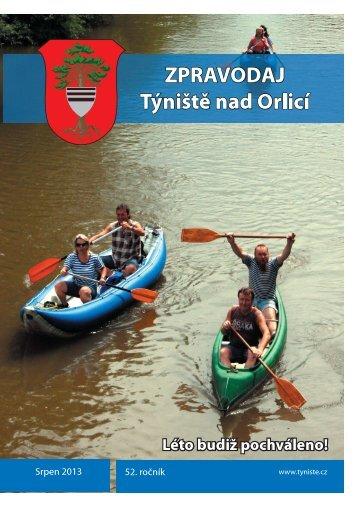 Týnišťský zpravodaj - Srpen 2013