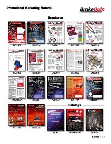 Catalogs Brochures Promotional Marketing Material - BrakeQuip