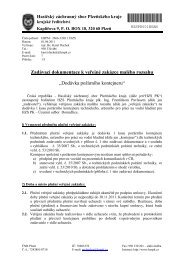 Zadávací dokumentace - HZS PK - HZS Plzeňského kraje
