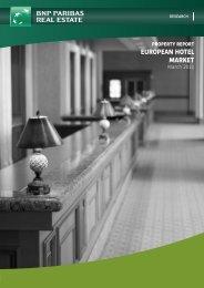 property report european hotel market - DANOS