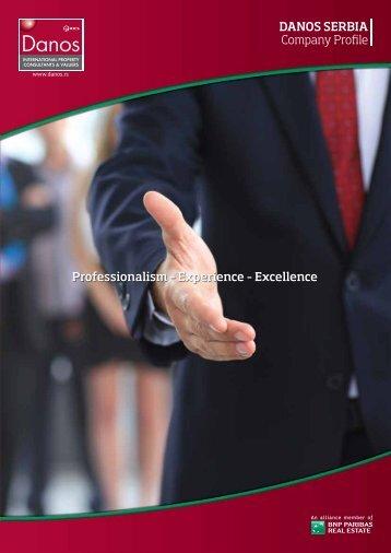 DANOS SERBIA Company Pro le Professionalism – Experience ...