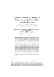 Enhanced Performance Analysis of Multi-core Applications with an ...