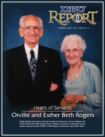 The Orville and Ester Beth Rogers Prayer Ministry - Dallas Baptist ...