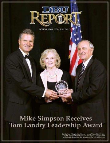 2009 Tom Landry Leadership Award Dinner - Dallas Baptist University