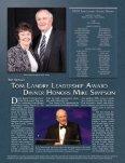 2009 Tom Landry Leadership Award Dinner - Dallas Baptist University - Page 2