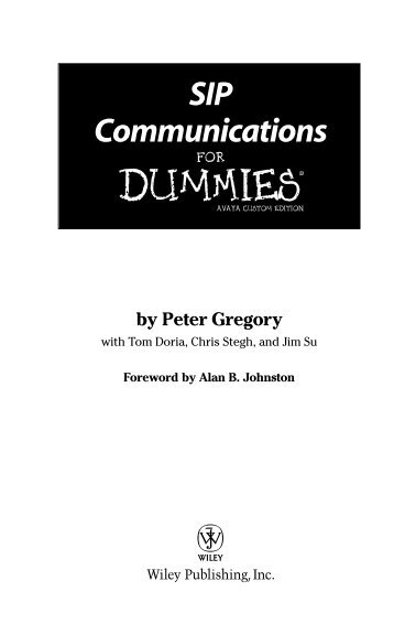 SIP Communications For Dummies - StarTrinity.com