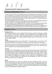 Jahresbericht 2012 / Rapport annuel 2012 - ALIS