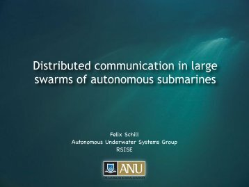 Distributed communication in large swarms of autonomous ... - EPFL
