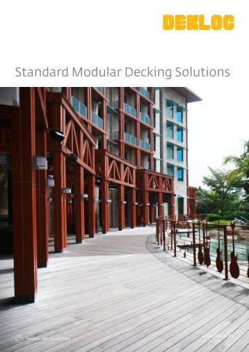 Standard Modular Decking Solutions - Venturer