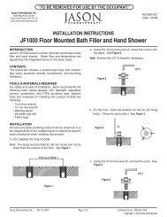 JF1000 Floor Mounted Bath Filler and Hand Shower - Jason ...