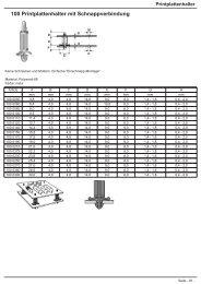 100 Printplattenhalter mit Schnappverbindung