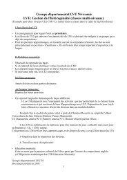Gestion de l'hétérogénéité (classes multi-niveaux)