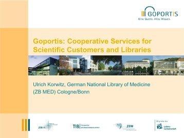 Goportis: Cooperative Services for Scientific ... - Varastokirjasto
