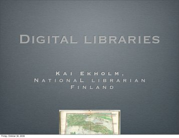 Digital libraries (PDF) - Varastokirjasto