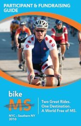participant & fundraising guide - Bike MS - National Multiple ...