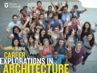 Career Explorations in Architecture - Post Card - Tulane School of ...