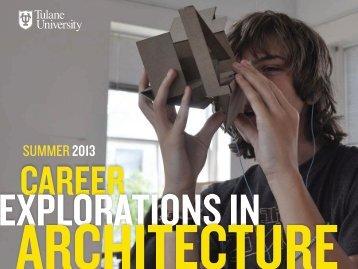 EXPLORATIONS IN - Tulane School of Architecture - Tulane University