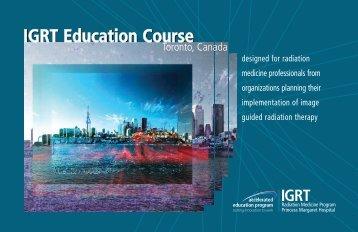 IGRT Education Course IGRT Education Course - CEPD University ...