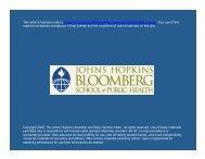 Slides - Johns Hopkins Bloomberg School of Public Health