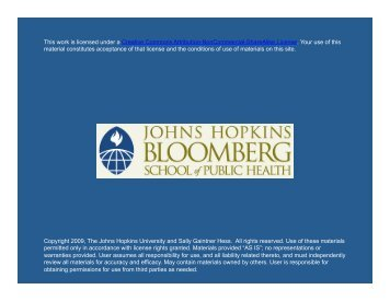 Slides - Johns Hopkins Bloomberg School of Public Health