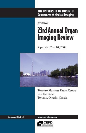 24th Annual Organ Imaging Review - CEPD University of Toronto
