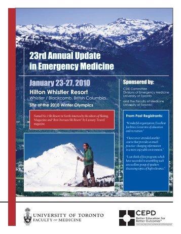 23rd Annual Update in Emergency Medicine - CEPD University of ...