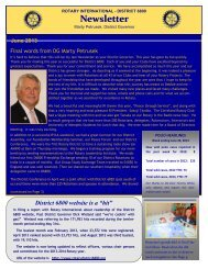 Newsletter - Rotary International District 6800