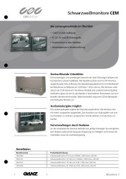 Schwarzweißmonitore CEM - CBC CCTV