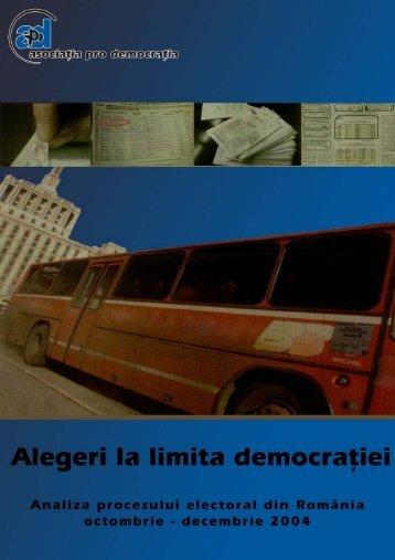 Alegeri la limita democraœiei