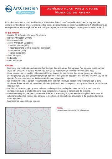step-by-step-acrilico mosaico arena - Artel