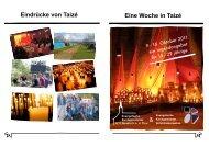Flyer Taizé 2011 - Evangelische Kirchgemeinde Neukirch an der Thur