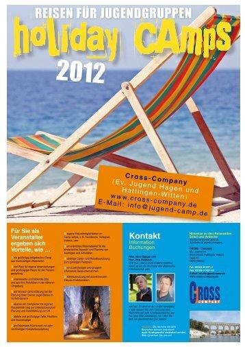REISEN FÜR JUGENDGRUPPEN 2012 - Cross-Company