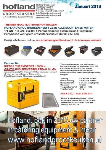 beursfolder 2013 - Hofland Grootkeuken BV