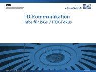 Zukunftsperspektiven ID-Kommunikation - ITEK - ETH Zürich