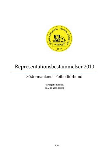 Representationsbestämmelser år 2010